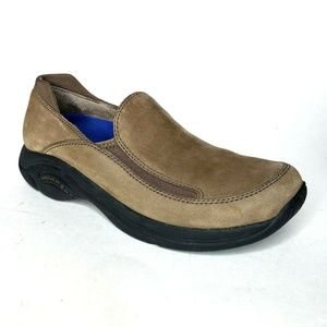 Merrell Treviso Moc Stone Shoes Suede Slip On 8.5